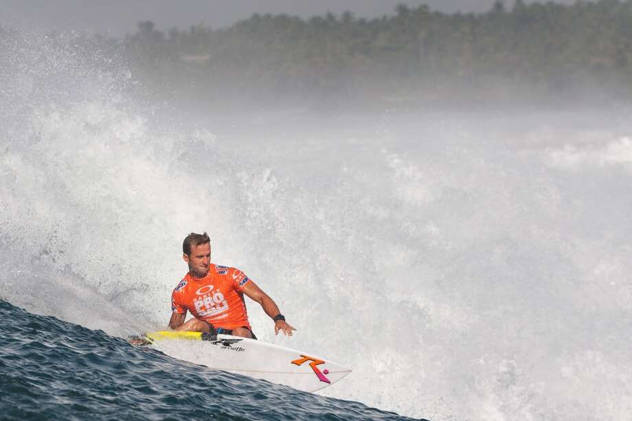 Josh Kerr of the United States of America surfs to an equal third place on June 27, 2013 in Denpasar, Bali, Indonesia.