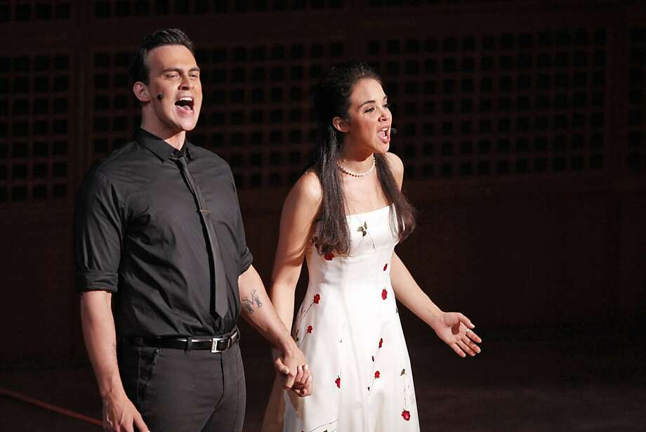 "Cheyenne Jackson (left) brings elegance to the role of Tony and Alexandra Silber is infectiously charming as Maria in the San Francisco Symphony's performance of ""West Side Story"" at Davies Symphony Hall. Photo: Carlos Avila Gonzalez, The Chronicle"