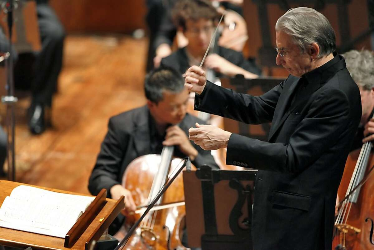 Michael Tilson Thomas conducts the San Francisco Symphony in a performance of West Side Story in San Francisco, Calif., on Thursday, June 27, 2013.