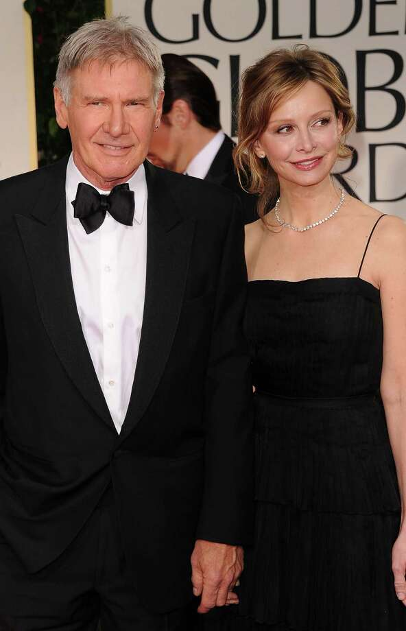 Actors Harrison Ford, 72, and Calista Flockhart, 50, at the Golden Globes in 2012. They were married in 2010. Photo: Jason Merritt, Getty Images / 2012 Getty Images