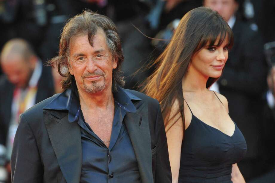 Al Pacino, 74, with girlfriend Lucila Sola, 35, at the Venice International Film Festival  in 2011. Photo: ALBERTO PIZZOLI, AFP/Getty Images