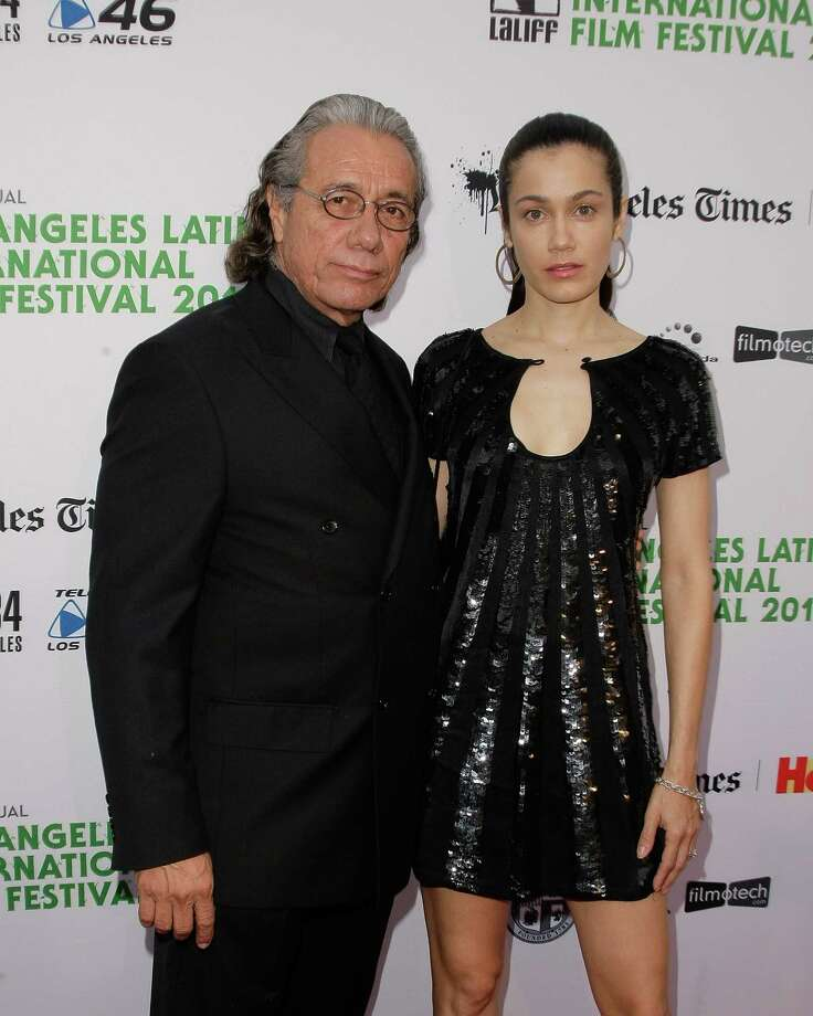 Edward James Olmos, 67, with third wife, Lymari Nadal, 36, at the LA Latino Film Festival in 2010. Photo: Noel Vasquez, Getty Images / 2010 Getty Images