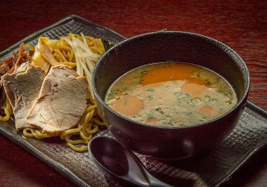 The Tsukemen dipping noodles at Waraku.