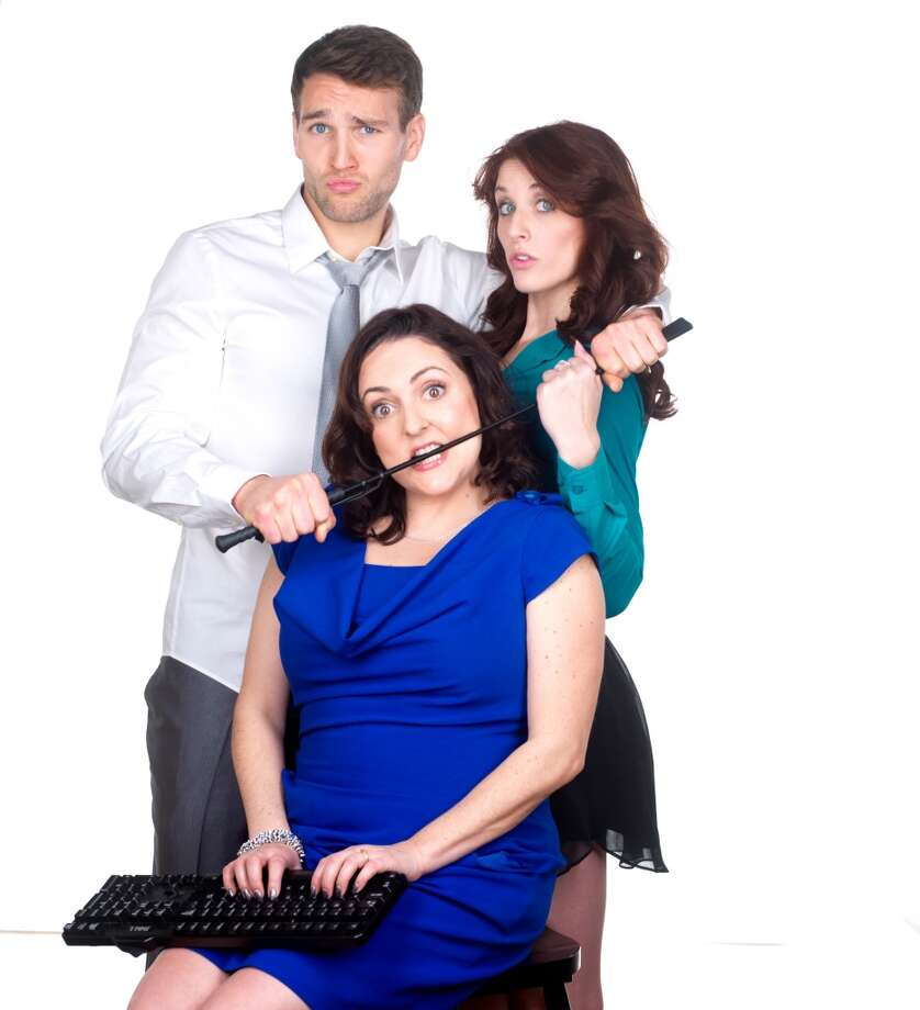 "Drew Moerlein, Michelle Vezilj and Amanda Barker, seated, will be in Stamford, Conn., Friday, June 28, 2013, to bring ""SPANK! The Fifty Shades Parody"" to the Palace Theatre. Inspired by the hugely successful ""Fifty Shades of Grey"" trilogy by E.L. James, the show is a racy romp, complete with audience participation. For more information, visit http://www.scalive.org."