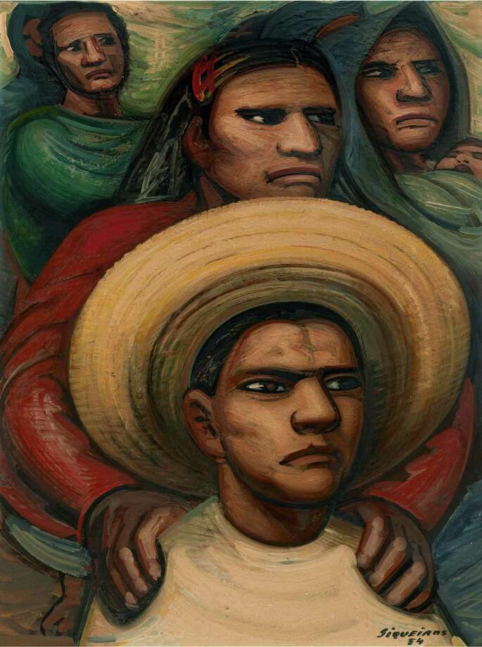 """On view in """"Intersecting Modalities: Latin American Art from The Brillembourg Capriles Collection"""" at the Museum of Fine Arts, Houston through Sept. 2: David Alfaro Siqueiros' """"The Challenge"""" (1954, pyroxylin on Masonite), The Brillembourg Capriles Collection of Latin American Art Photo: Artists Rights Society, New York, Photographer"""