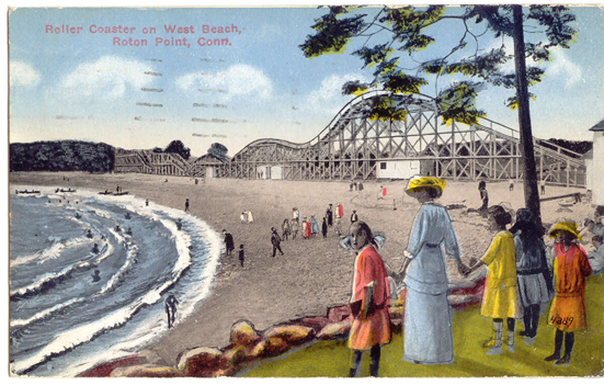 A postcard shows a scene from Roton Point Amusement Park, which was a popular stop for families from the late 1880s to the early 1940s. The Rowayton (Conn.) Historical Society will revisit this once bustling attraction with