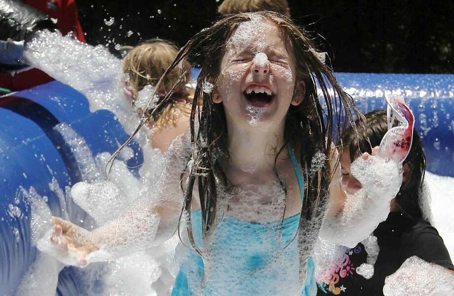 Good clean fun: Lather is the best medicine at Sunny Dayz Summer Camp in The Woodlands, 