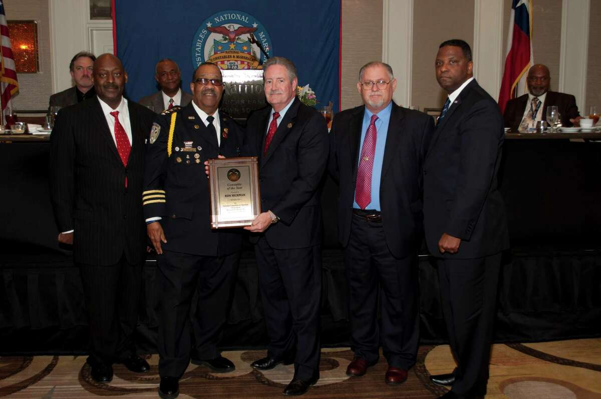 Harris County Precinct 4 Constable Ron Hickman was recognized with the Constable of the Year award. Pictured from left to right are NCMA Board Member, Fort Bend County Constable Ruben Davis; NCMA Board Chairman, Baton Rouge Constable Major Reginald Brown