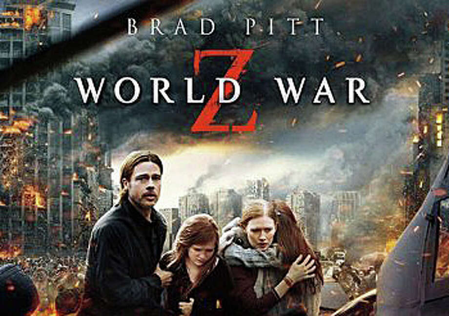 "Brad Pitt stars in the new zombie invasion movie, ""World War Z,"" now playing in area theaters. Photo: Contributed Photo / Westport News"