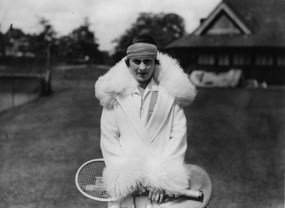 June 1926 —  Spanish tennis player Lili de Alvarez poses in her fur-trimmed coat after beating Molla Mallory in the lawn tennis ladies singles championship. Photo: G. Adams, Getty Images