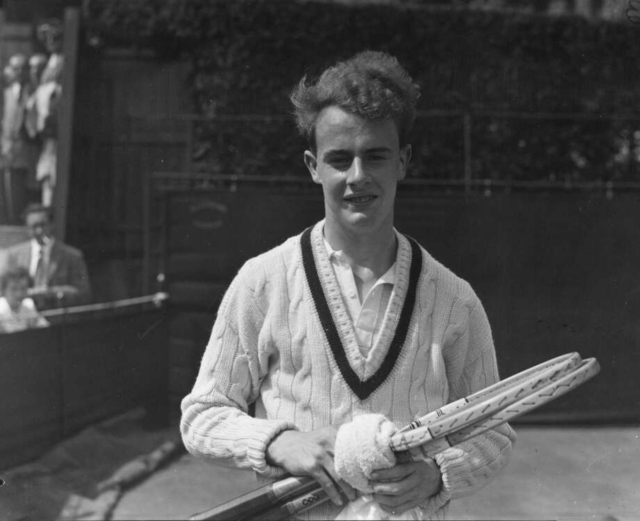 June 1952 — 16-year-old British tennis player R K Wilson at the Wimbledon Lawn Tennis Championships.