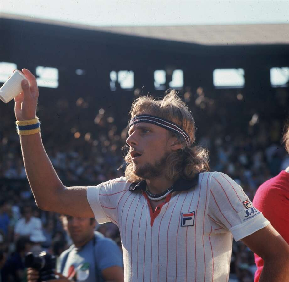 July 1976 — Swedish tennis player Bjorn Borg during the men's semi-final at Wimbledon.