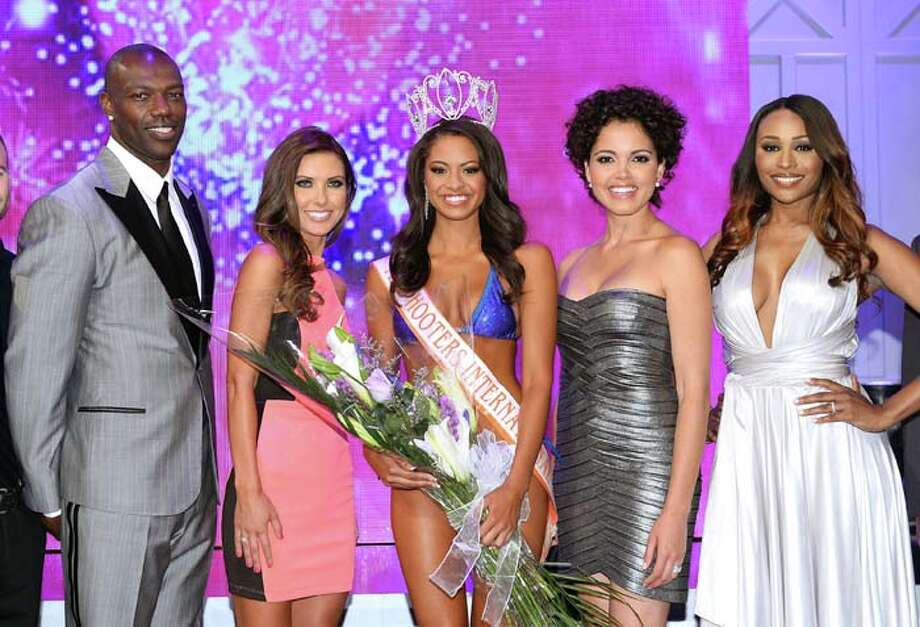 NFL free agent and pageant judge Terrell Owens, television personality and pageant judge Audrina Patridge, Marissa Raisor of Newport, Kentucky, Miss USA 2003 and pageant judge Susie Castillo and model and pageant judge Cynthia Bailey Photo: Ethan Miller, Getty Images / 2013 Getty Images