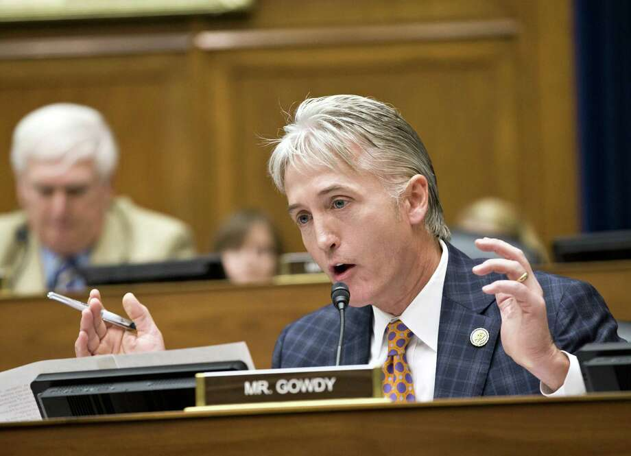 Rep. Trey Gowdy, R-S.C., argues a point during a session of the House oversight panel. Photo: J. Scott Applewhite / Associated Press