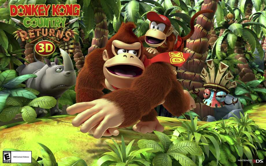 """Donkey Kong Country Returns 3D"" is a great game despite Kong's longtime sidekick, Diddy Kong. Photo: Courtesy Nintendo"