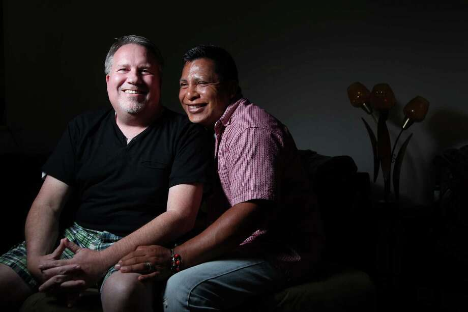 Fred Smith and Isaias Rivas-Guzman were legally married last year in Massachusetts. Photo: Mayra Beltran, Staff / © 2013 Houston Chronicle