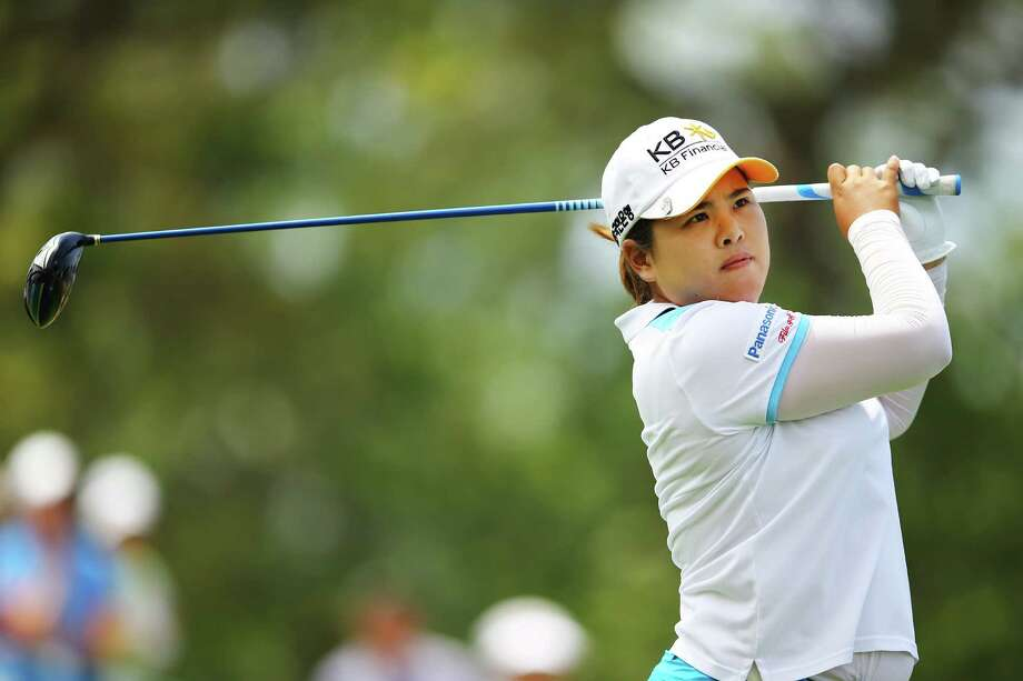 SOUTHAMPTON, NY - JUNE 28:  Inbee Park of South Korea tees off on the second hole during round 2 of the 2013 U.S. Women's Open at Sebonack Golf Club on June 28, 2013 in Southampton, New York.  (Photo by Al Bello/Getty Images) ORG XMIT: 160017221 Photo: Al Bello / 2013 Getty Images
