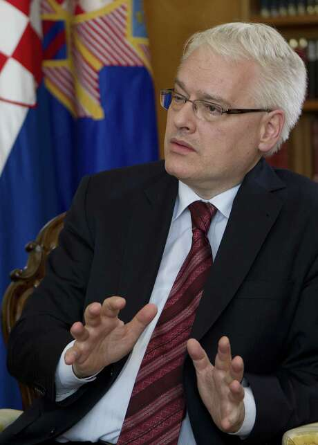 """Croatian President Ivo Josipovic says his country sees the EU """"primarily as a peace project."""""""