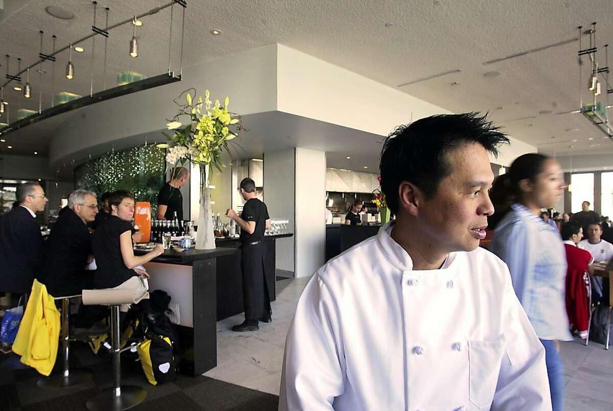 Head chef Charles Phan is seen at the Slanted Door.
