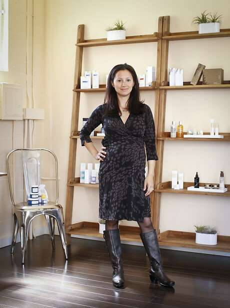 "Dara Kennedy has opened a micro shop, Ayla Beauty, on Bush Street in S.F.: ""There's a lot of misinformation out there,"" she says of product formulations. Photo: Russell Yip, The Chronicle"