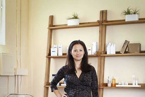 Dara Kennedy, seen on Tuesday, June 18, 2013 in San Francisco, Calif., has opened a store, Ayla Beauty, in her office in the Healing Arts Building.
