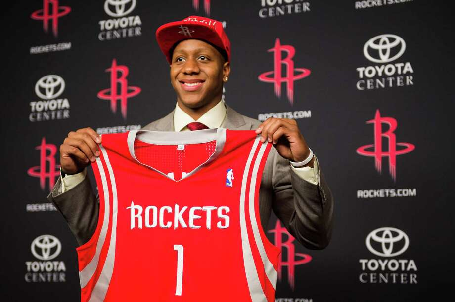 Isaiah Canaan lost his Tracy McGrady No. 1 Rockets jersey when Hurricane Katrina struck Biloxi, Miss. Now, the 34th pick of the 2013 NBA draft has his own No. 1 as a Rockets guard. Photo: Smiley N. Pool, Staff / © 2013  Houston Chronicle