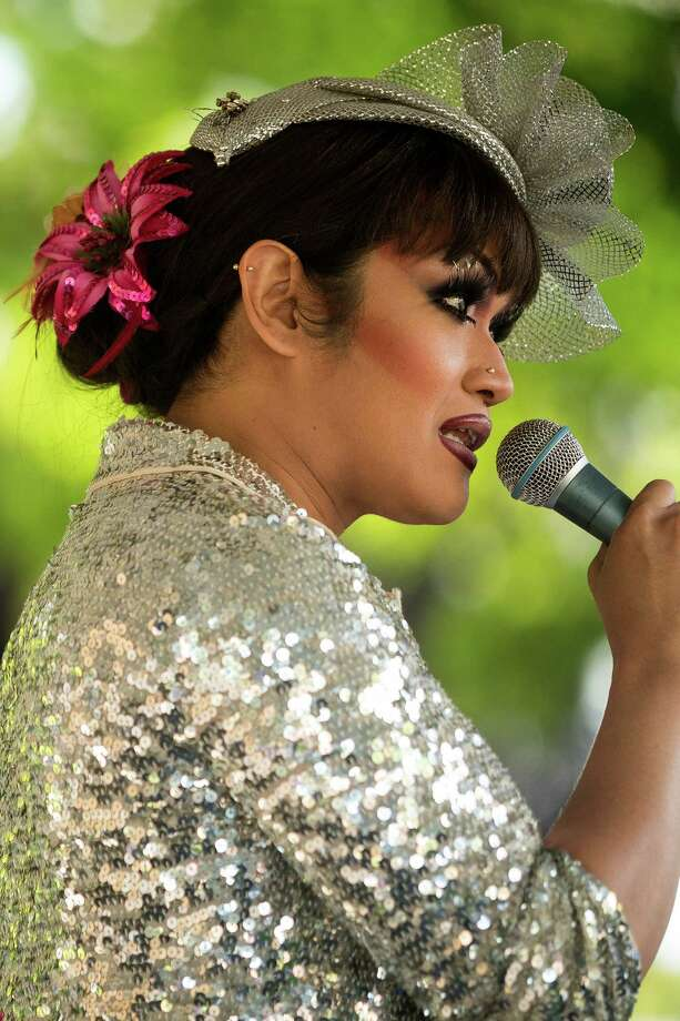 Emcee Aleksa Manila speaks at the Trans Pride celebration Friday, June 28, 2013, in the Capitol Hill neighborhood of Seattle. The event intended to increase the power of the transgender community and its allies, both within and beyond Seattle. Photo: JORDAN STEAD, SEATTLEPI.COM / SEATTLEPI.COM