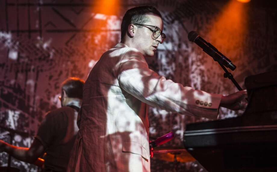 "Hot Chip performs at the ""Converse Represent"" free concert series at Slim's in San Francisco on June 26, 2013."