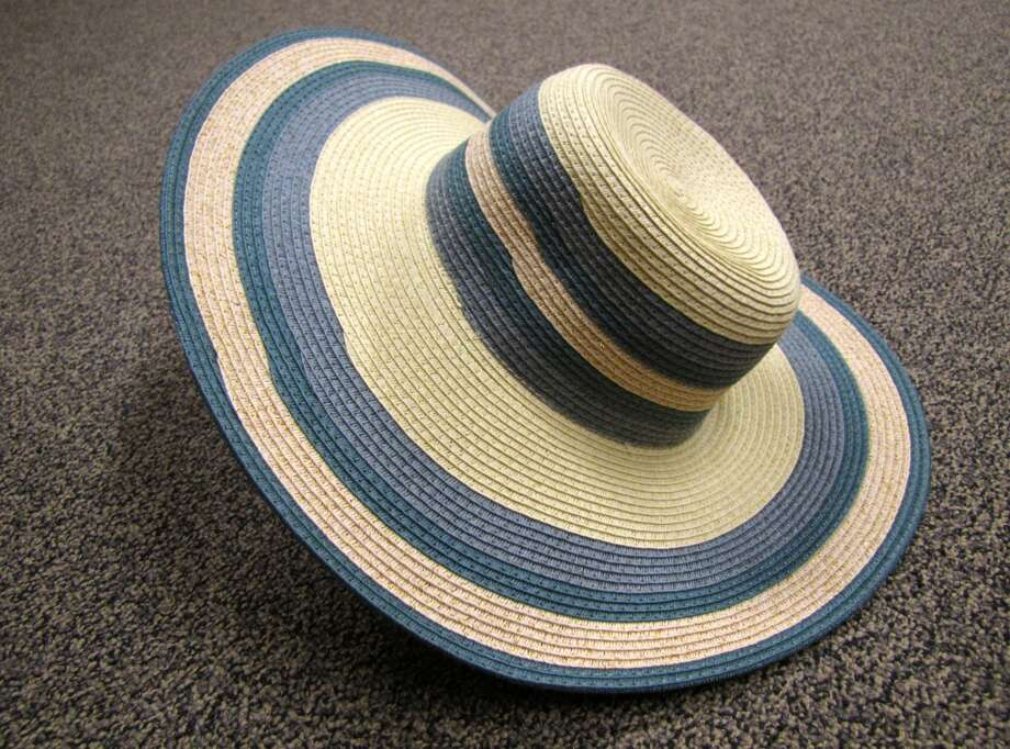 Striped sun hat, $12, S & M Family Outlet, Beaumont
