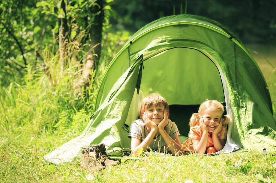 If you can't manage a camping trip this year, try setting up the tent in the backyard for a couple of nights.