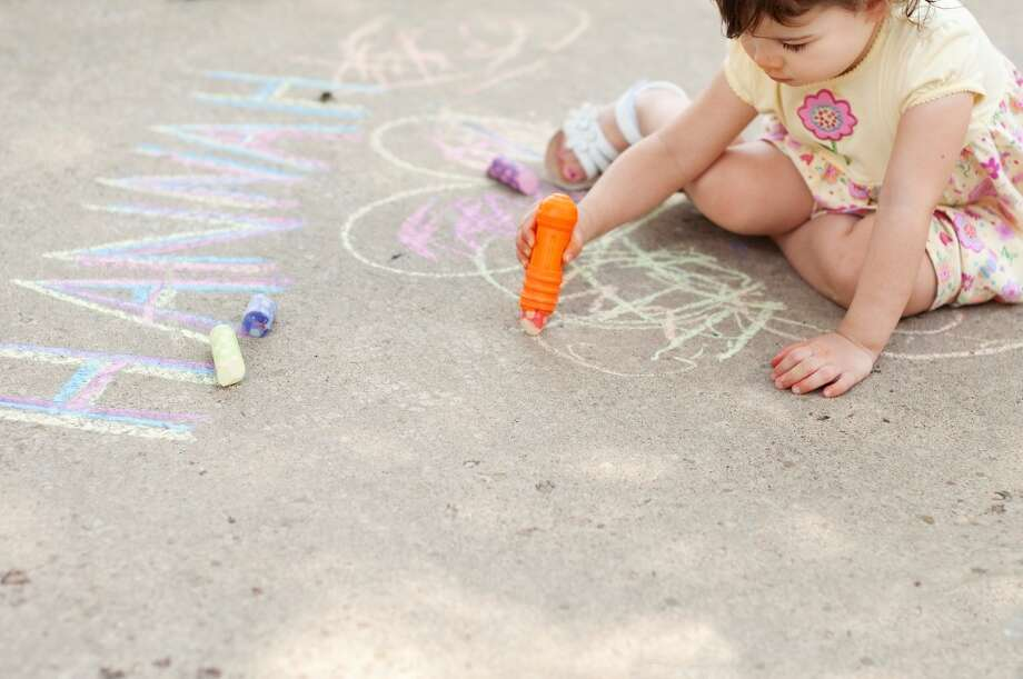 Bust out the sidewalk chalk and give your driveway a colorful makeover.