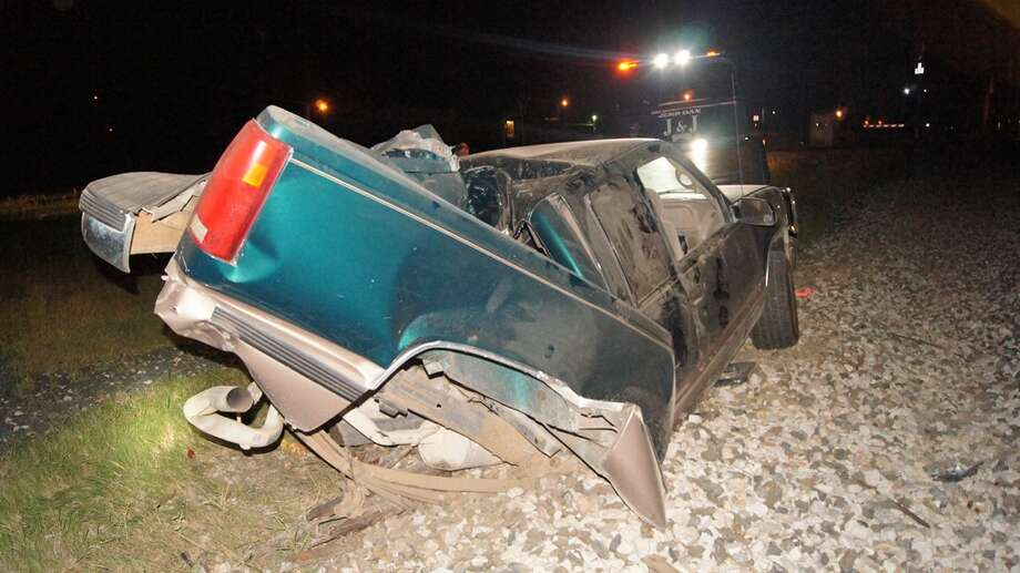 The driver and friends managed to get away before impact and no one was uninjured.