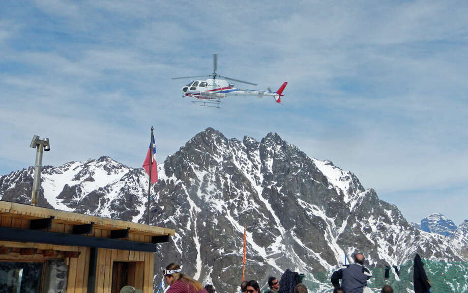 Portillo has helicopter ski trips available for guests.
