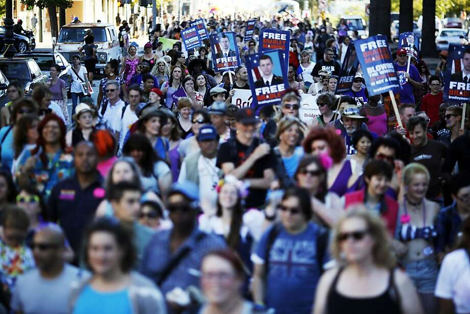 Marchers set out from Dolores Park at the start of the Trans March. Photo: Ian C. Bates, The Chronicle