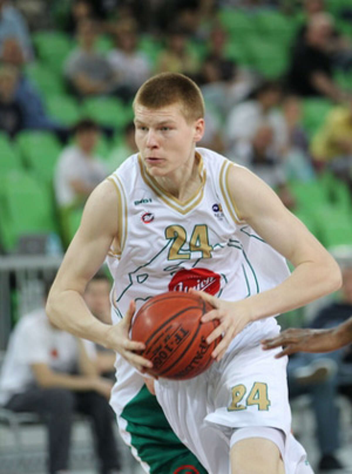 12. He represented the Latvian national team at the 2011 EuroBasket tournament. He was born in Valmiera, Latvia on Nov. 12, 1992.