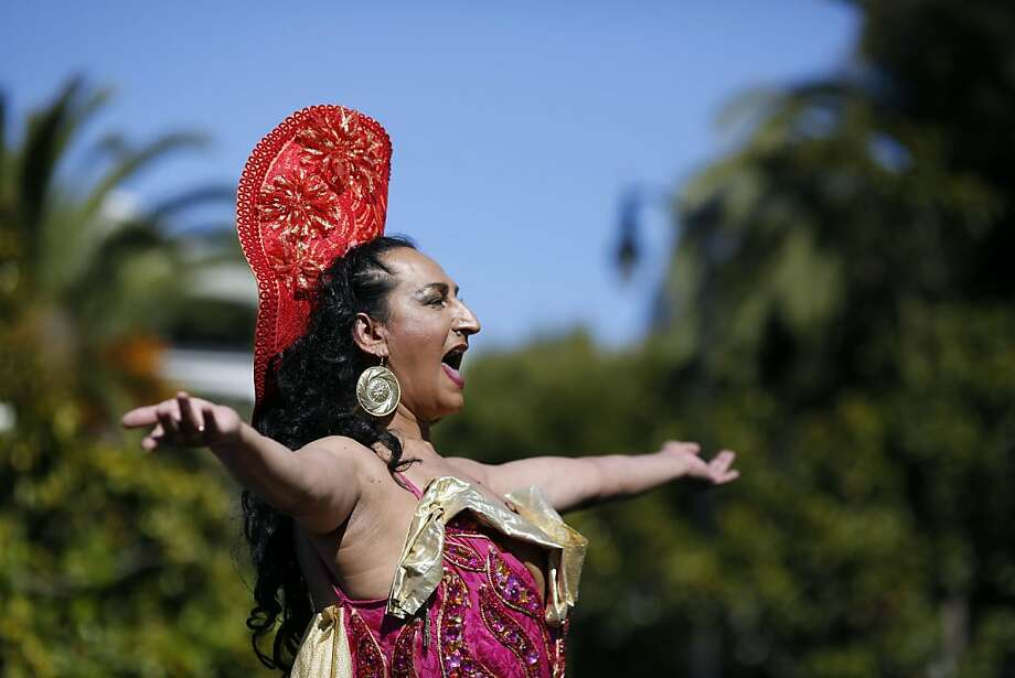 Donna Personna performs during celebrations and performances before the Trans March in Dolores Park in San Francisco, Calif. on June 28, 2013. Photo: Ian C. Bates, The Chronicle