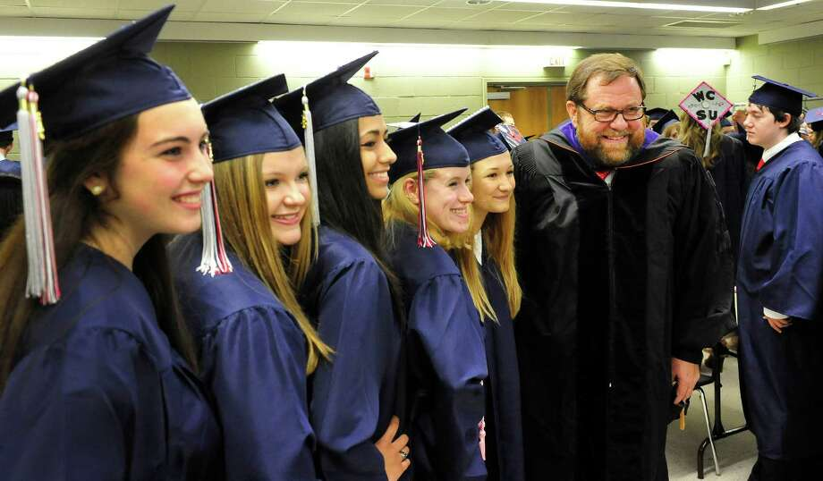 New Fairfield High School holds commencement exercises at the O'Neill Center, on the campus of Western Connecticut State University in Danbury, Conn. Saturday, June 29, 2013. Photo: Michael Duffy / The News-Times