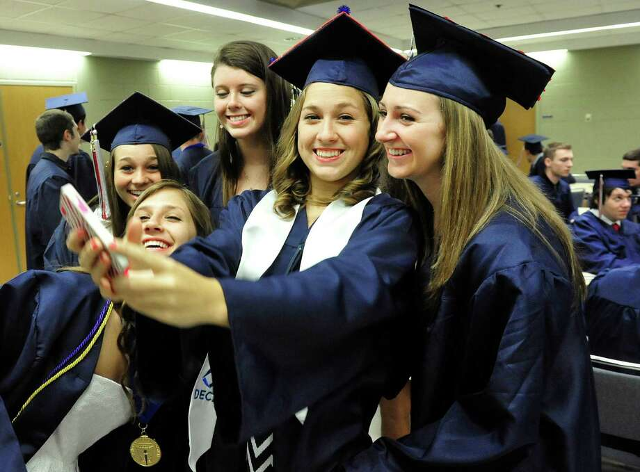 New Fairfield High School graduation. graduation -- need as many ids as possible - best 5-8 for print..number first in sequence ...on-line slideshow of as many as possible...like 50 or more USE web only drop for non-id photos  USE keywords high school graduation commencement Photo: Michael Duffy / The News-Times