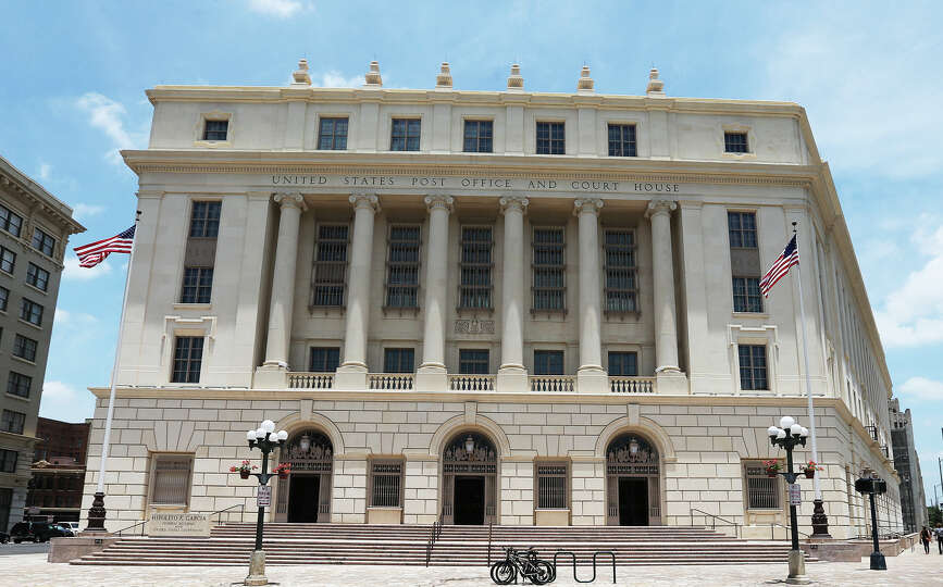 The polygonal, Beaux-Arts style Hipolito F. Garcia Federal Building and U.S. Courthouse has o