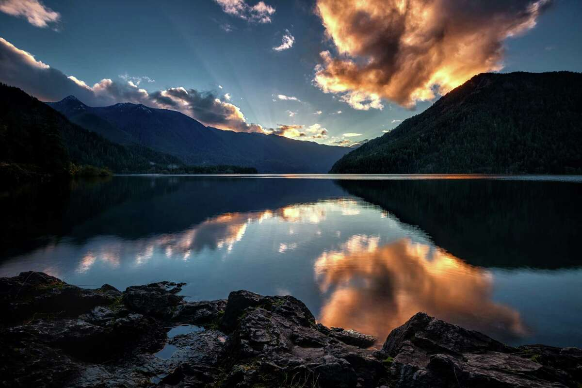 Sunset at Lake Crescent, Olympic National Park