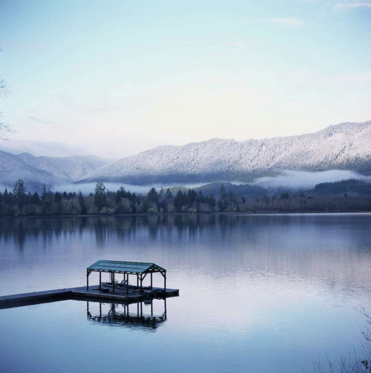 Ridges above Lake Quinault, in Olympic National Forest, would be protected as wilderness under the Wild Olympics bill.