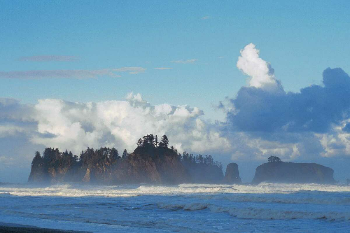 Rialto Beach in Olympic National Park in Washington. The potential threat to Olympic beaches has generated bipartisan opposition to the Trump administration's plans for offshore oil and gas leasing.