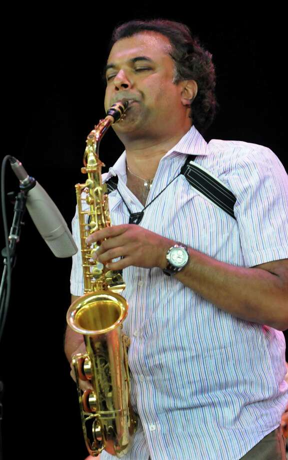 Rudresh Mahanthappa performs during the 33rd annual Freihofer's Jazz Festival on Saturday, June 29, 2013, at Saratoga Performing Arts Center in Saratoga Springs, N.Y. (Cindy Schultz / Times Union) Photo: Cindy Schultz / 00022973A