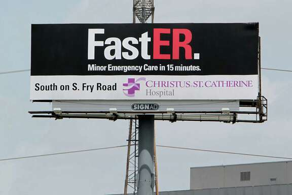 Christus St. Catherine Hospital in Katy touts its fast emergency room visits, partly in response to the growing number of free-standing urgent care facilities.