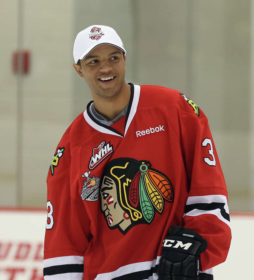 NEWARK, NJ - JUNE 29:  Defenseman Seth Jones skates with players from the Hockey in Newark youth program and the New Jersey Rockets at the AmeriHealth Pavilion inside the Prudential Center on June 29, 2013 in Newark, New Jersey.  (Photo by Bruce Bennett/Getty Images) ORG XMIT: 171692502 Photo: Bruce Bennett / 2013 Getty Images