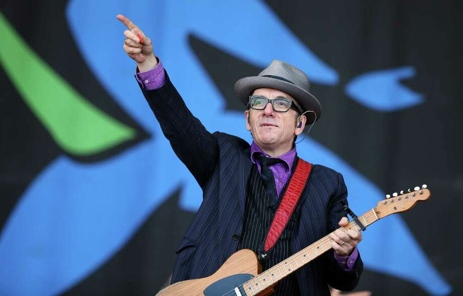 Elvis Costello performs on the Pyramid Stage at the Glastonbury Festival of Contemporary Performing Arts site at Worthy Farm, Pilton on June 29, 2013 near Glastonbury, England. Photo: Matt Cardy, Getty Images / 2013 Getty Images