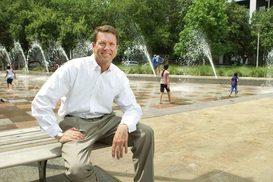 Guy Hagstette poses for a portrait at Discovery Green Wednesday, June 19, 2013, in Houston. Hagstette has been an integral advocate behind public spaces in Houston. ( Brett Coomer / Houston Chronicle ) Photo: Brett Coomer, Staff / © 2013 Houston Chronicle