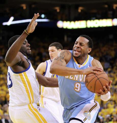 Forward Andre Iguodala, right, likely will be looking at Denver in his rearview mirror after the Nuggets overhauled their basketball management. Photo: Lance Iversen, Staff / ONLINE_YES