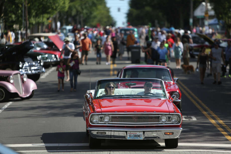 A Dodge Coronet is shown on Greenwood Avenue North during the Greenwood Car Show on Saturday, June 29, 2013 in Seattle. The annual show is the largest single-day car show in the state. Photo: JOSHUA TRUJILLO, SEATTLEPI.COM