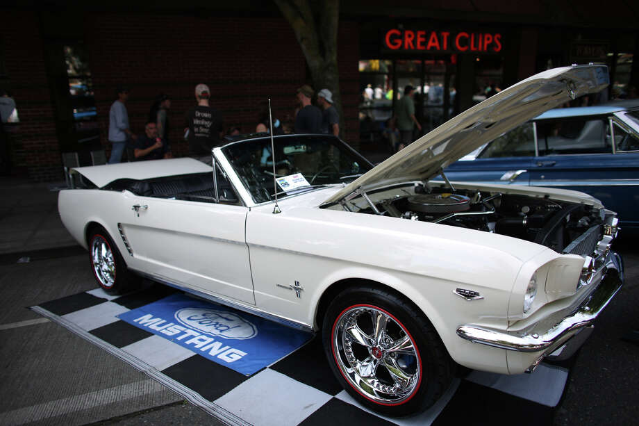 A Mustang is shown during the Greenwood Car Show on Saturday, June 29, 2013 in Seattle. The annual show is the largest single-day car show in the state. Photo: JOSHUA TRUJILLO, SEATTLEPI.COM